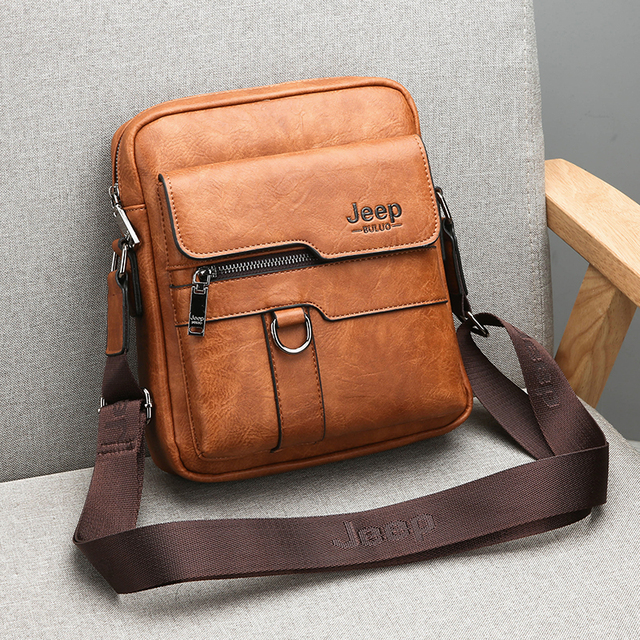 JEEP BULUO Luxury Brand Men Messenger Bags Crossbody Business Casual Handbag Male Spliter Leather Shoulder Bag Large Capacity 5