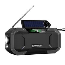 HiFi 5000mAh high Power bezprzewodowy głośnik Bluetooth awaryjna korba zasilana energią słoneczną Radio pogodowe Bank ładowarka latarka przenośna tanie tanio SwYiSm Liniowe Audio Przenośne Baterii Z tworzywa sztucznego Pełny Zakres 3 (2 1) CN (pochodzenie) 200-299W NONE