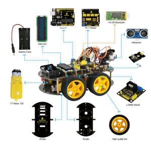 Image 3 - Keyestudio 4WD Bluetooth multi fonctionnel bricolage voiture intelligente pour Arduino Robot éducation programmation + manuel dutilisation + PDF (en ligne) + vidéo