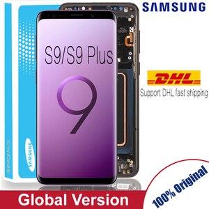 Image 1 - 100% Super AMOLED เปลี่ยนสำหรับ SAMSUNG Galaxy S9 S9 + จอแสดงผล LCD หน้าจอสัมผัส Digitizer G960 G965 S9 PLUS LCD