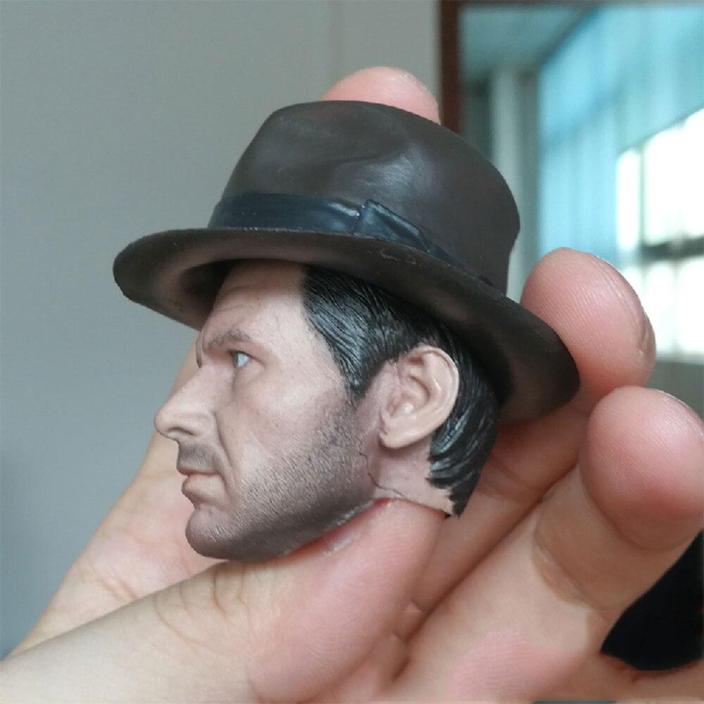1//6 Solider Dr Henry Indiana Jones Head Carving Sculpt Model Toys Regular Versi