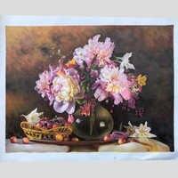 R & Art 100% pintado a mano flores de alta calidad pintura al óleo sobre lienzo arte regalo decoración para el hogar sala de estar pared arte sin marco