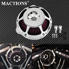 Motorcycle Chrome Air Cleaner Filter Intake Filter CNC For Harley Sportster XL883 48 Touring Dyna Super Glide Street Bob Softail