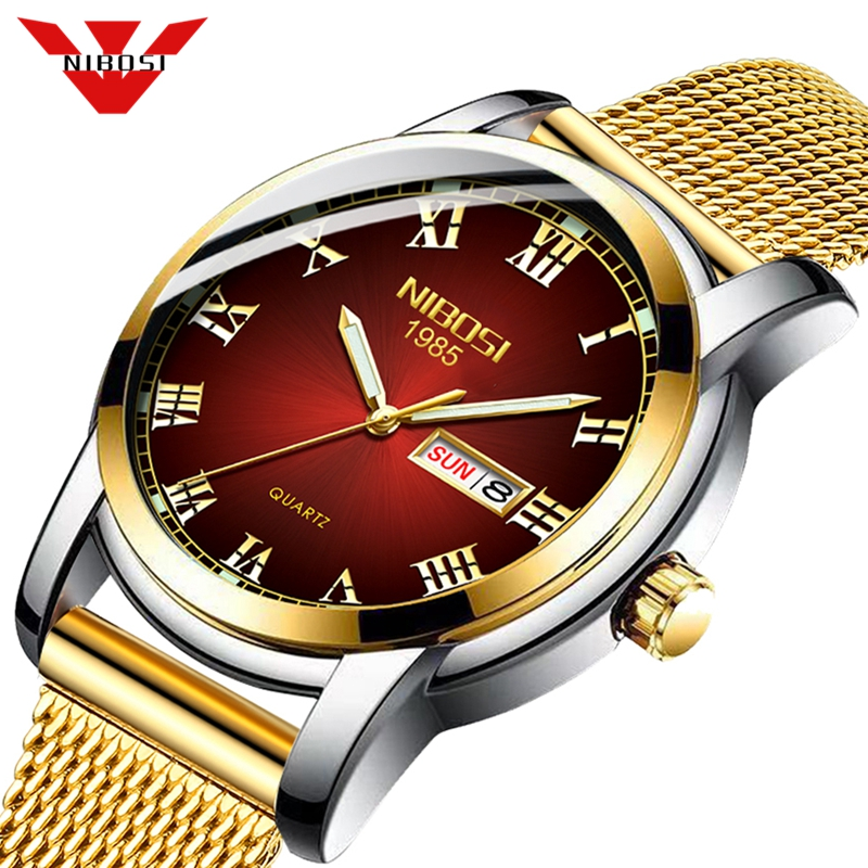 NIBOSI Couple Watch 2019 Lovers Watches Top Brand Luxury Quartz Waterproof Couple Watch Ladies Wristwatch Fashion Men Watch Gift