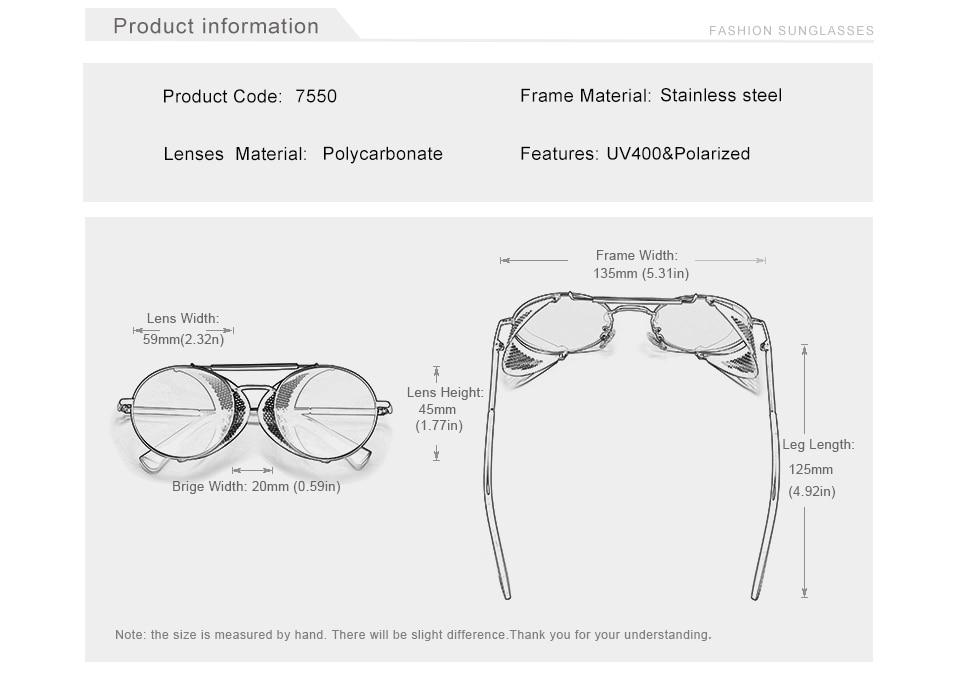 H78344210f71648929e98ee0ed15437c7C Genuine GIFTINGER Retro Round Steampunk Sunglasses Men Retro Women Sun Glasses Shades Vintage Travel Eyewear Gafas De Sol 7550