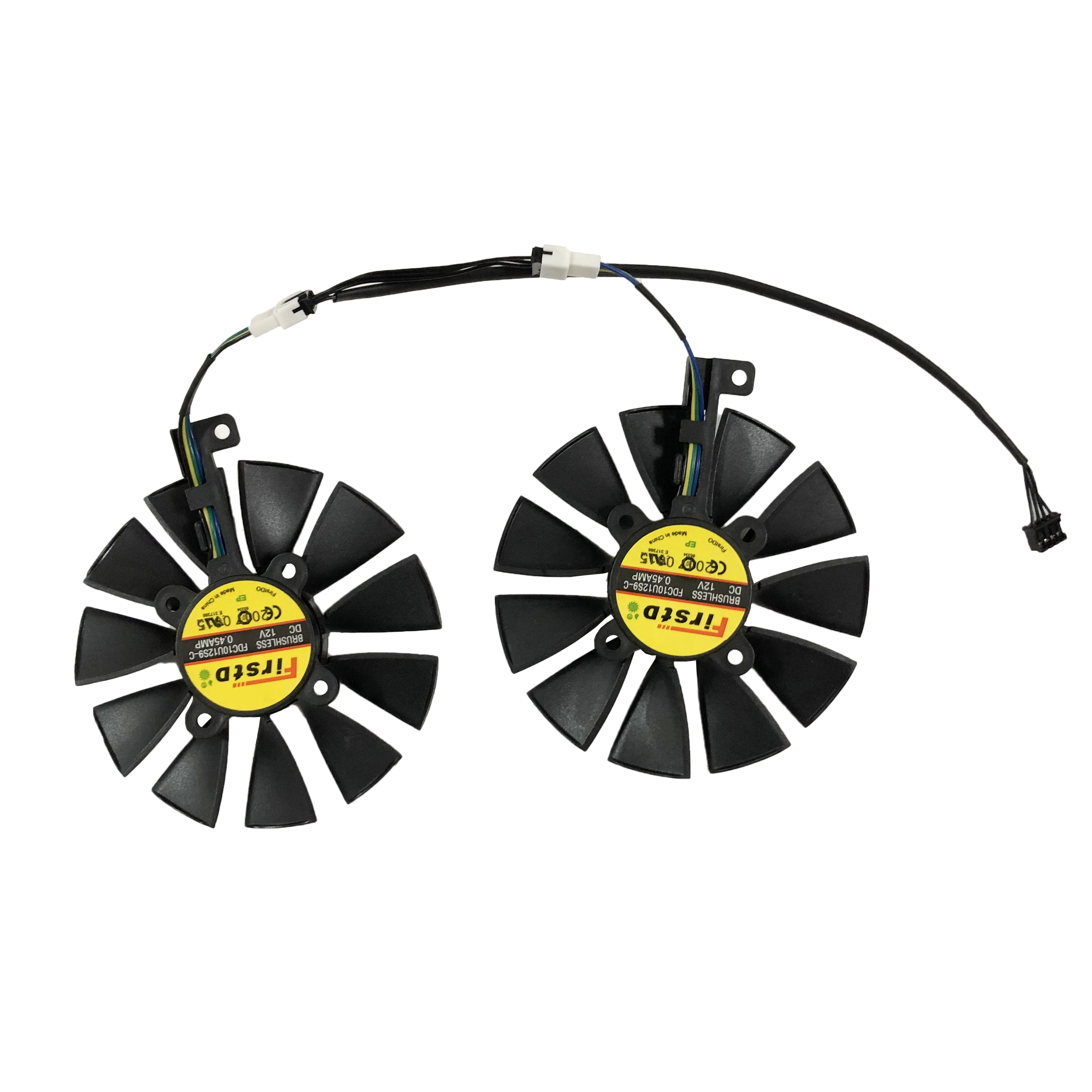 2 pçs/set 87mm FDC10U12S9-C EX-RX570 GTX 1060/1070 DUAL GPU Cooler Fan Para ASUS AREZ-EX-RX570-8G/4G Vídeo Placa Gráfica Arrefecimento