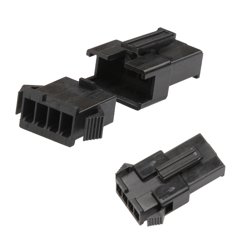 Housing Dupont Connector Pitch JST SM <font><b>Header</b></font> Male Female Crimp <font><b>Pin</b></font> Terminal Adaptor <font><b>Assortment</b></font> Kit 100Pcs/10Set4 <font><b>Pin</b></font> 2.54mm image