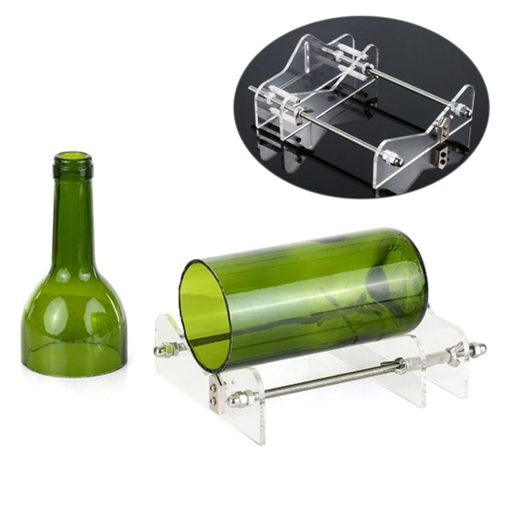 Glass Bottle Cutter Acrylic Adjustable DIY Bottle Cutting Machine for Wine/Beer Bottles