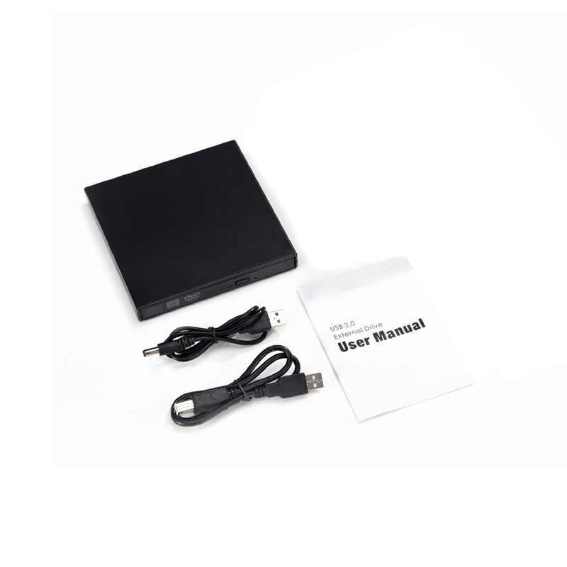 ポータブルスリム外部 USB DVDROM DVDRW バーナーライター光学ドライブノートパソコンのネットブックノート Pc 黒