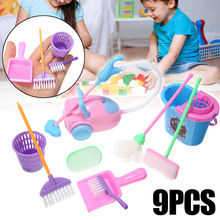 Toys-Set Broom Cleaning Kids Child Housekeeping-Toys Mini Mop 9pcs