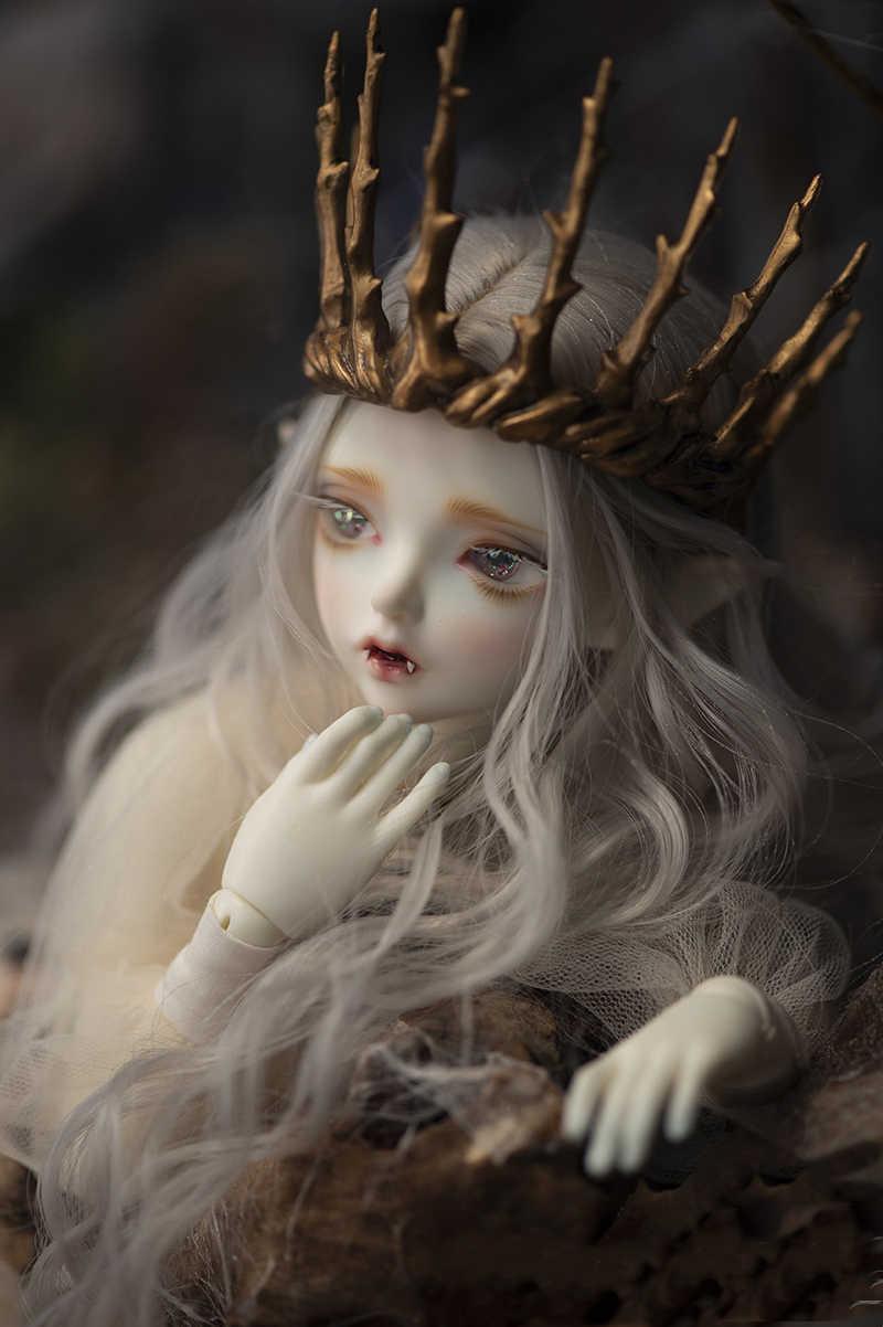 Happy Amethyst ตุ๊กตา BJD puppe 1/4-Hwayu แวมไพร์ Elf ตุ๊กตา (ดวงตาฟรี + ฟรี)
