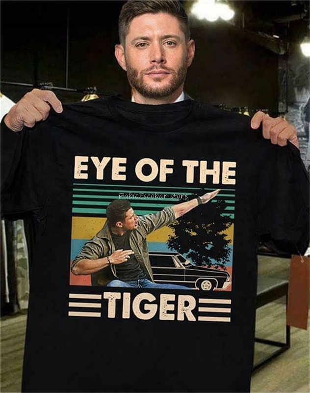 Dean Winchester Supernatural Eye Of The Tiger Vintage Retro, regalo Per Gli Uomini Hot Summer casual Tee Shirt uomo di marca della maglietta di estate