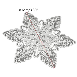 Snowflake Shaped Scrapbooking Dies Cut Cutting Die Nesting Cards Papercraft Embossing Decoration Paper Cut