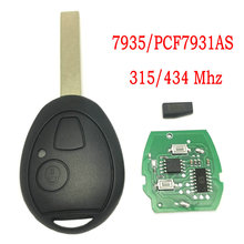 Datong World Car Remote Key For Bmw Mini Cooper S R50 R53 ONE Full 7935 PCF7930/31AS 315 Mhz 434 Mhz Auto Smart Rplace Blank Key