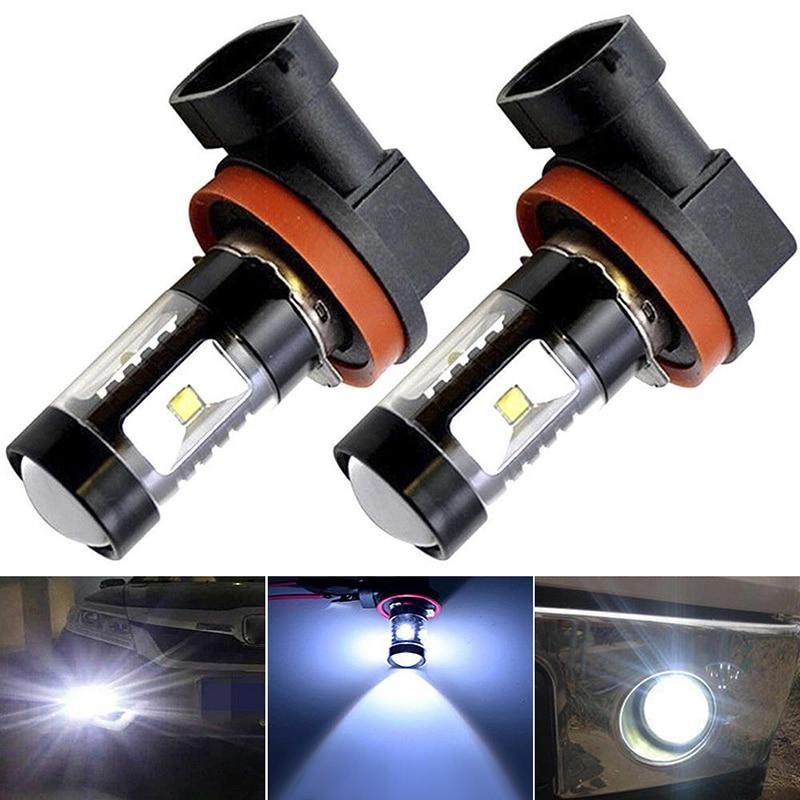 2pcs H8 Tuning Car Universal Led Fog Bulb H16 H11 Fog DRL Light Bulb 6000K White 100W Car Driving Running Lamp Car Light 12v