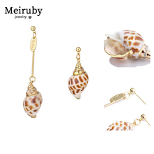 New 2pair Natural Shell Earrings Unique Asymmetric2019 for Women Jewelry  Geometric Fashion Statement