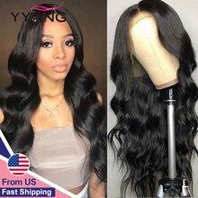 13x4実体波レースフロント人毛ウィッグ黒人女性事前摘み取らベビーヘアーへ低比のremy毛130% 密度