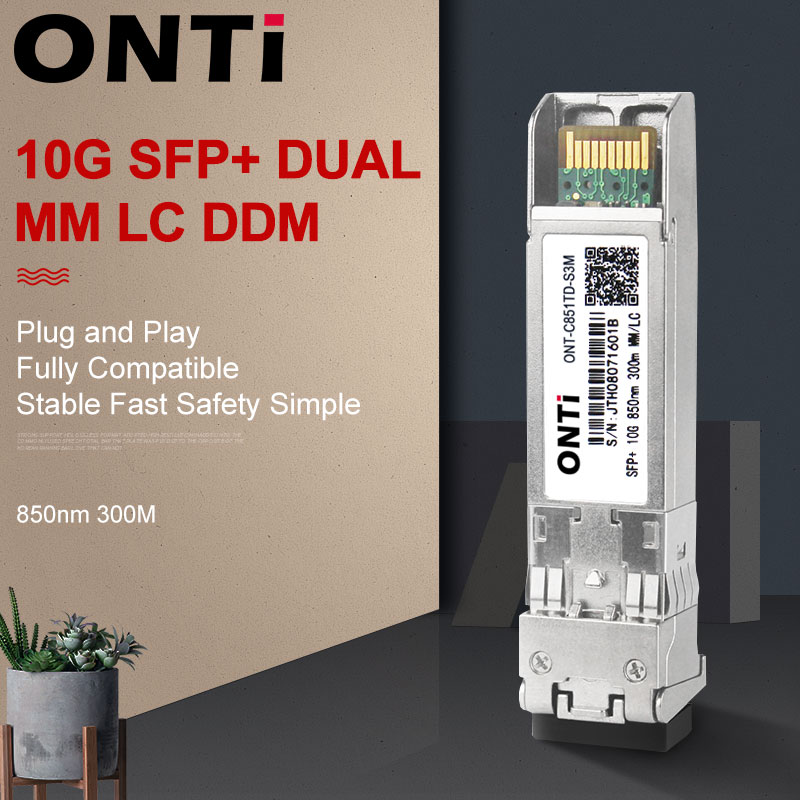 10 Гб SFP + модуль многомодовый 300 м ММ Дуплекс SFP + приемопередатчик LC оптический разъем SFP-10G-SR совместим с переключателем Mikrotik Cisco