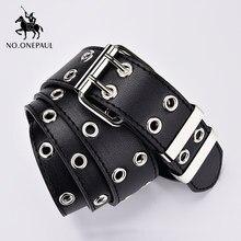 NO.ONEPAUL cintura da donna in vera pelle nuovo stile Punk moda fibbia ad ardiglione jeans cintura decorativa catena cinture di marca di lusso per donna