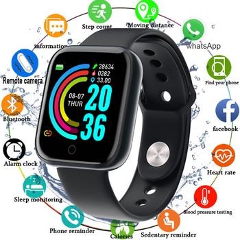 Watch Men Women Blood Pressure e20 Smartwatch Waterproof Heart Rate Tracker Sport Clock Smart Hours For Android IOS