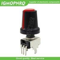 Potenciómetro de sellado de 3 pines para Arduino, 10 Uds. RV09, resistencia ajustable 1K ~ 500K Ohm, con perilla, tapa roja (5 uds + 5 uds)