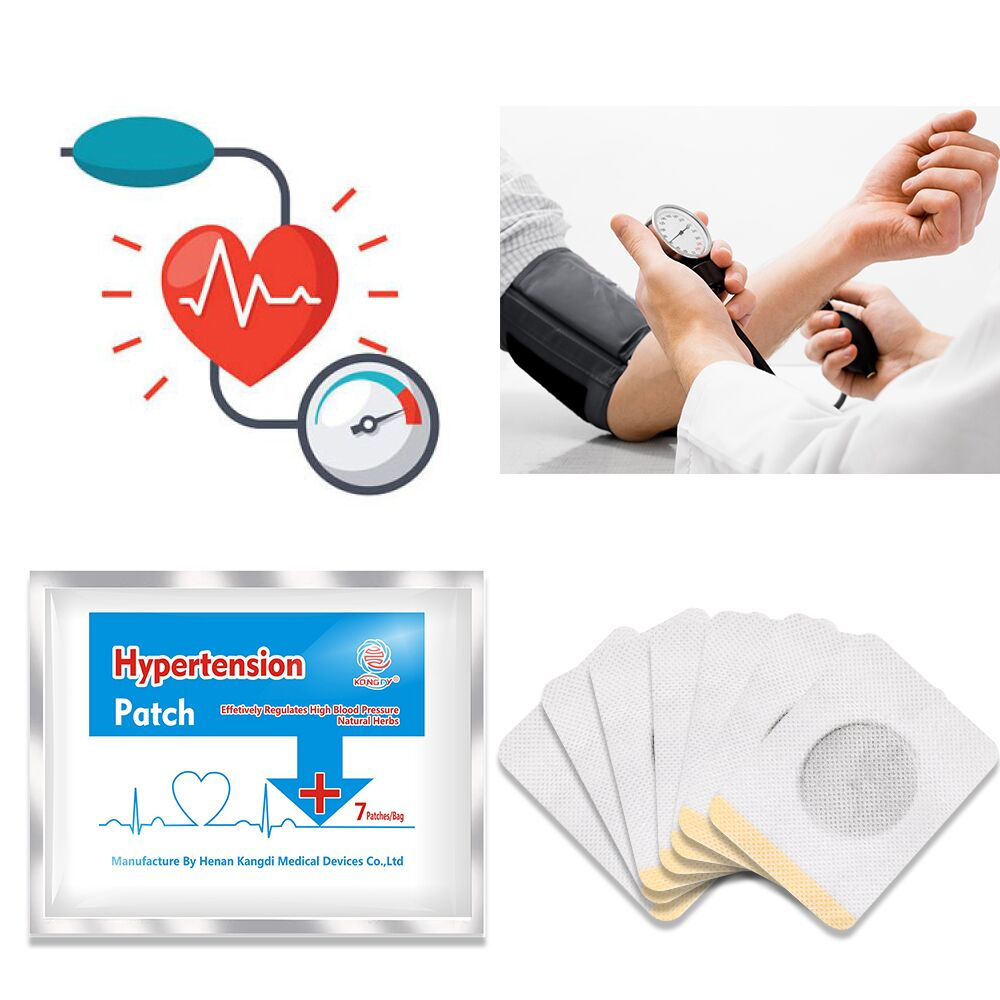 KONGDY 7 Pcs Hypertension Patch Chinese Herbal Medical Plaster Reduce High Blood Pressure Patch Clean Blood Vessel