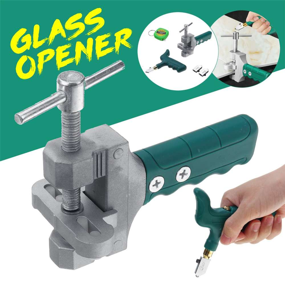 Glass Tile Opener High Quality Hand-Held Large Wheel Ceramic Tile Glass Cutter Multi-function Roller Cutter Glass Picker