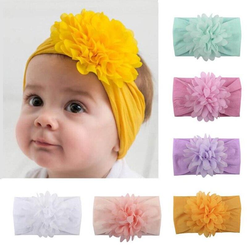 1 шт. для маленьких девочек ясельного возраста, повязка на голову для новорожденных, разные цвета с лентой на голову, комплекты детской, аксе...