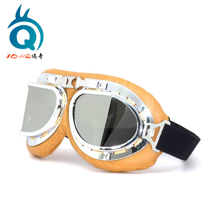 Harley Cool Hide Substance Knight Goggles Motorcycle Off road Eye protection Goggles E Bike Windproof Sand Retro Mask Glasses Skiing Eyewear     - title=