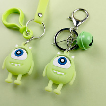 Cartoon Cute Big Eyes Doll Keychains Creative Monsters University Big Eyes Car Key Chian Kids Gift Key Chains Lovers Bag Pendant big eyes