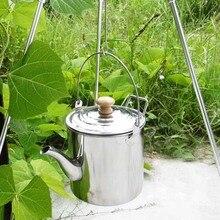 Походные чайники для воды, плита из нержавеющей стали, 2000 мл, питьевой чайник, кофейник, чайник, оборудование для кемпинга, кухонная посуда