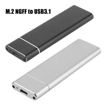 Portable Aluminum Alloy SSD M.2 NGFF to USB 3.1 High Speeds Mobile Hard Disk Case