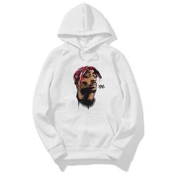 Tupac Mens Hoodies Winter Coat Popular Hip Hop Sweatshirt Fashion Harajuku Hoodies Streetwear Men Women Hoodie Sweatshirts Male toda mafalda print hoodies women men hooded sweatshirts harajuku hip hop hoodies sweatshirt streetwear tracksuit winter clothes