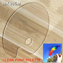 Paint Palette Oil-Watercolour Clear Acrylic Transparent Artist Gouache for Easy-Cleanup