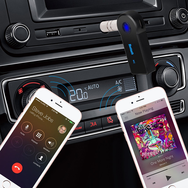 2 in 1 Wireless Bluetooth 5.0 Receiver Transmitter Adapter 3.5mm Jack For Car Music Audio Aux A2dp Headphone Reciever Handsfree 6
