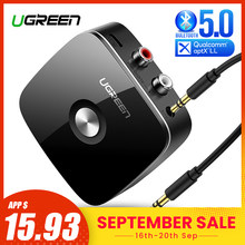 Ugreen Bluetooth RCA Receiver 5.0 aptX LL 3.5mm Jack Aux Wireless Adapter Music for TV Car RCA Bluetooth 5.0 3.5 Audio Receiver(China)