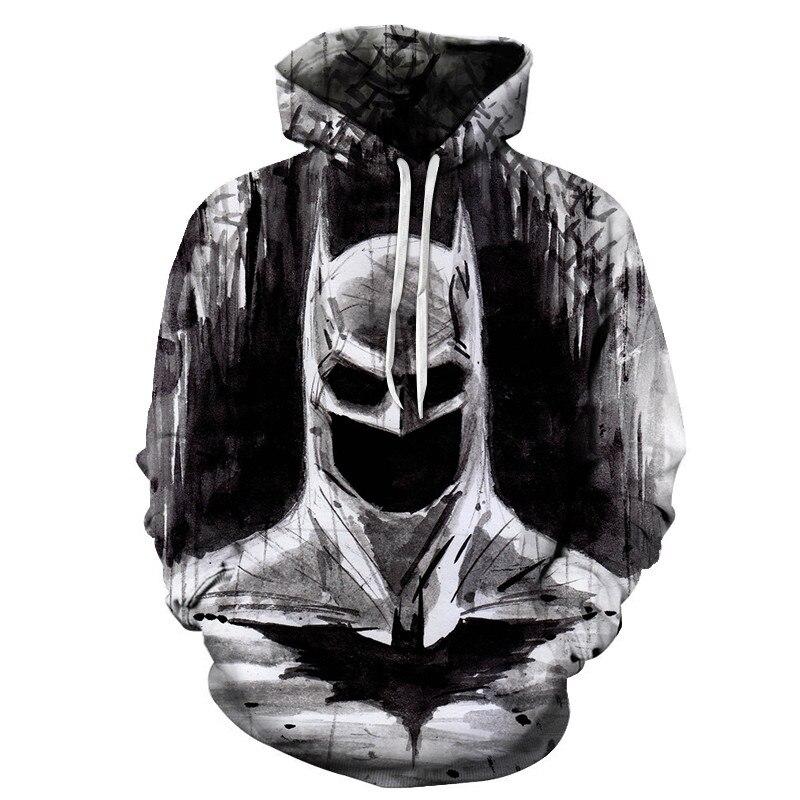3D Autumn Anime Hoodie Unisex 3D Printing Batman Sweatshirt Street Hoodie Superman Pullover Harajuku Casual Hoodie