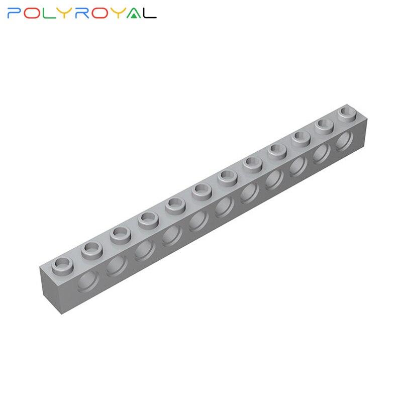 Building Blocks accessories 1x12 Perforated brick 11 holes 10PCS Compatible Assembles Particles Technic Parts Moc Toy Gift 3895