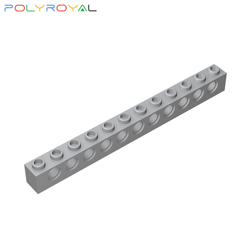 Building Blocks accessories 1x12 Perforated brick 11 holes 10PCS Compatible Assembles Particles Technic Parts Moc Toy Gift 3895 image