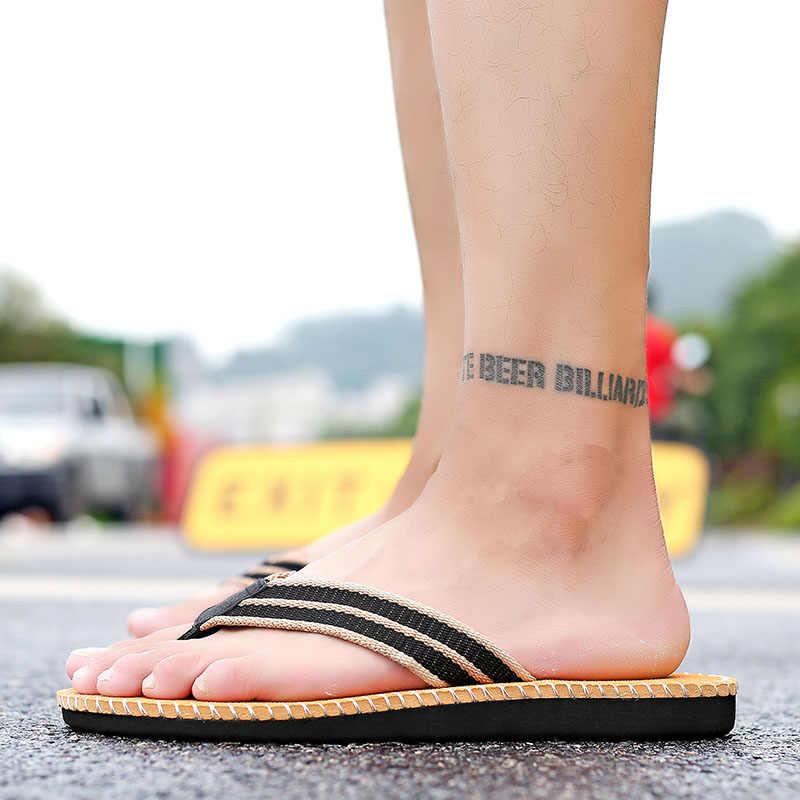2019 جديد الصيف شبشب رجالي اليدوية الوجه يتخبط مريحة تنفس صنادل شاطئ عدم الانزلاق الكلاسيكية أحذية غير رسمية