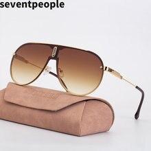 Солнцезащитные очки без оправы мужские овальные Роскошные брендовые