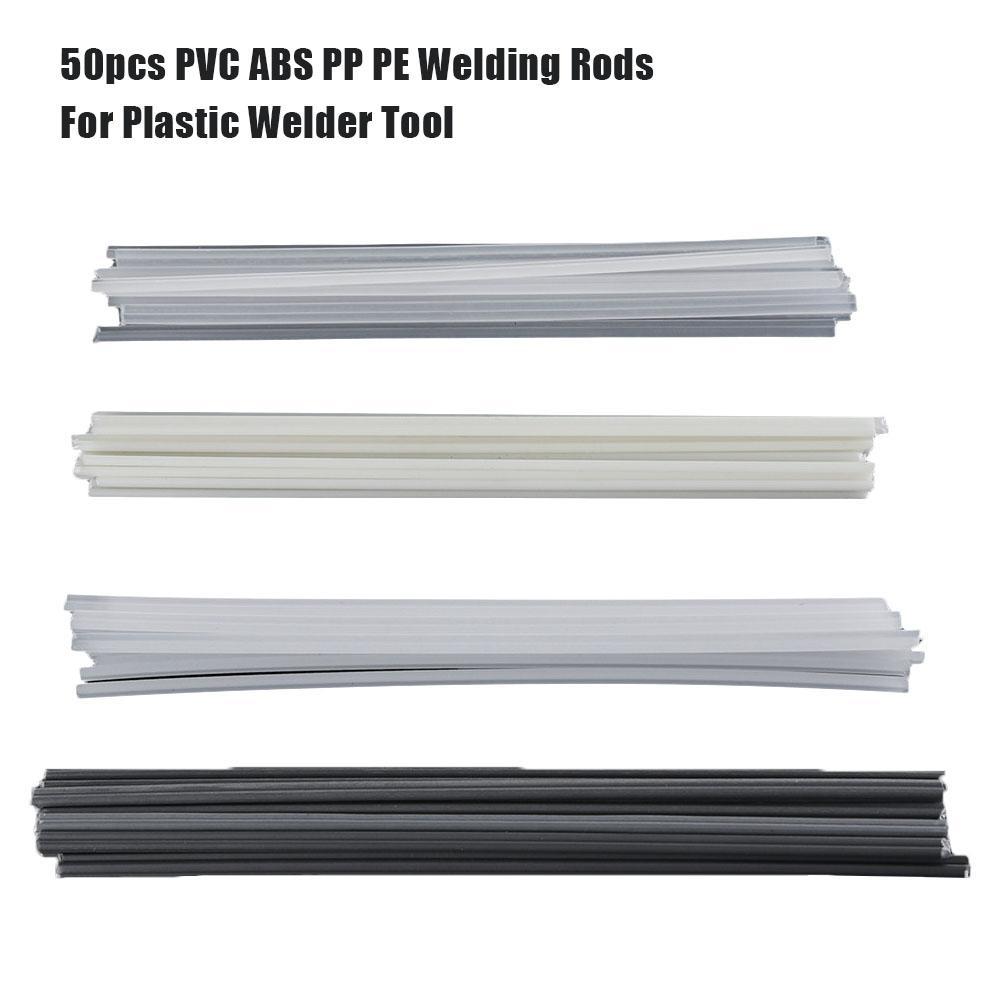 50pcs Plastic Welding Rods Bumper Repair ABS/PP/PVC/PE Welding Sticks Welding Soldering Supplies For Plastic Welder