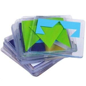 Image 4 - 100 desafio código de cor quebra cabeça jogos tangram quebra cabeça placa brinquedo crianças desenvolver lógica espacial raciocínio habilidades brinquedo
