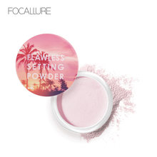 FOCALLURE-Polvo de ajuste Natural, polvo de bronceado, duradero, Control de aceite, polvo suelto liso, Maquillaje facial
