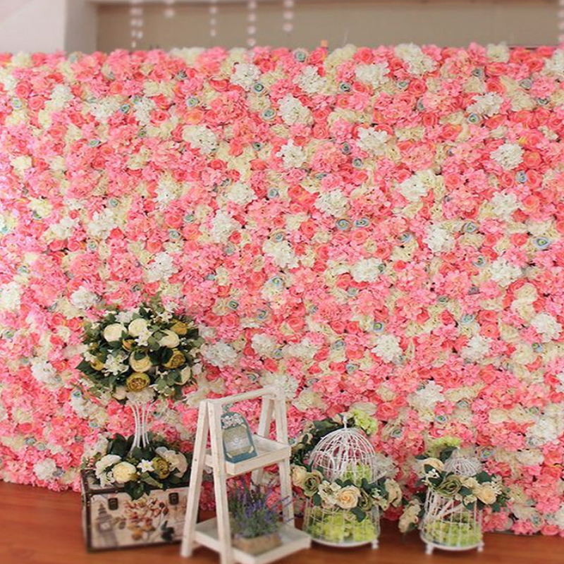 Artificial Flowers Hydrangea Heads Silk Hydrangea Wedding Flower Bouquet Artificial Wall Flowers DIY Home Party Background
