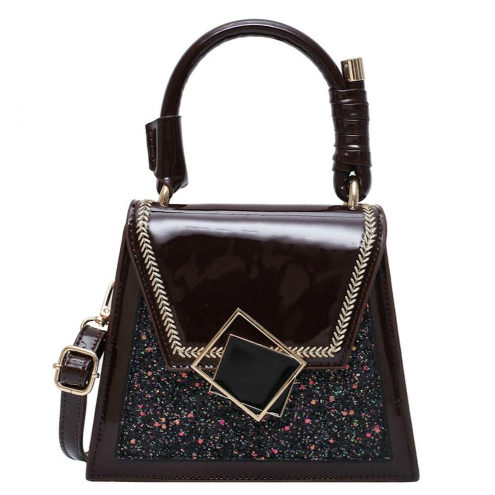 Sequins Crossbody Bags For Women Quality Patent Leather Female Shoulder Bag Casual Flap Bag Patchwork Ladies' Messenger Bag Sac