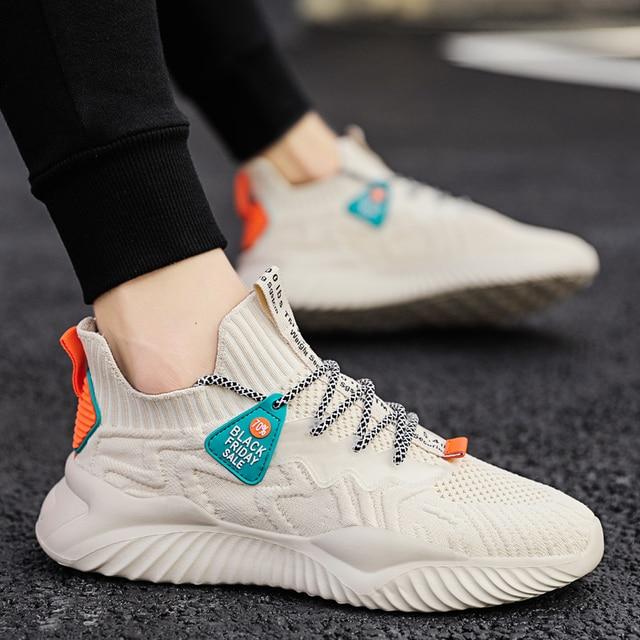 Zapatos informales De malla De moda para Hombre, zapatillas ligeras y transpirables para correr y trotar 6