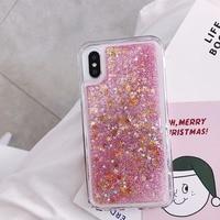 Glitter Phone Case Cover For iphone X XR XS 13 11 12 6S 6 7 8 5 5S SE 2020 2021 Plus Mini Pro MAX Dynamic Liquid Love Heart Quicksand Cover