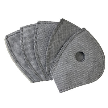 Activated Carbon Filter Cycling Mask Filter Replacement Anti Air pollution Dust Pm 2.5 Half Face Bike Bicycle Sport Mask Filters