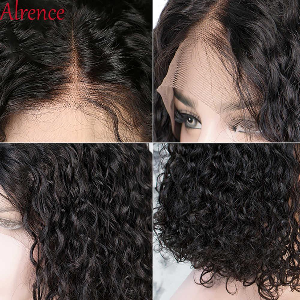 Keriting Rambut Manusia Wig Perruque Cheveux Merendahkan Bresiliens Solde Bob Wig Keriting Curly Wig Rambut Manusia Renda Depan Rambut Manusia wig